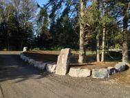 Mur pierre et entre a mont-tremblant