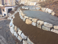 Mur de pierres, excavation, soutennement, Mont-Tremblant, Labelle