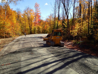 Route, chemin, excavation, Labelle , Mont-Tremblant