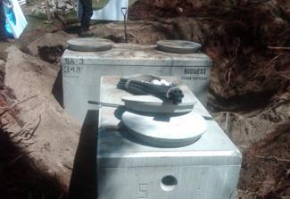 Fosse septique et bionest et réacteur